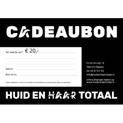 Cadeaubon Huid en Haar Totaal - 20 euro