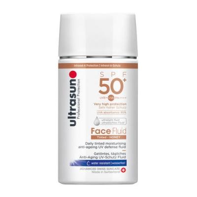 Ultrasun - Face Fluid Tinted Honey SPF50+ 40ml